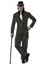 Bone Pin Stripe Men Ghoulish Halloween Costume