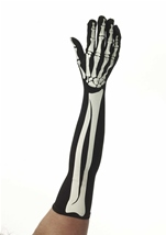 Women Skeleton Long Gloves