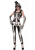 Sexy Skeleton Print Women Bodysuit