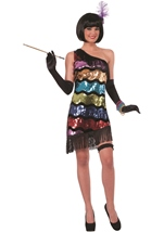 Swanky Sequins Women Flapper Costume