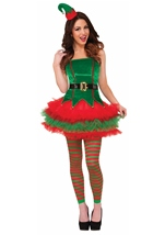 Elf Woman Sassy Christmas Deluxe Costume