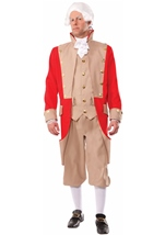 British Red Coat Men General Costume