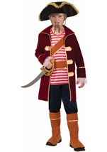 Pirate Captain Boys Deluxe Costume