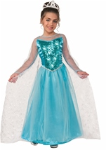 Snow Queen Princes Girls Costume