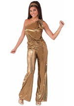 Disco Gold Lady 70s Woman Costume