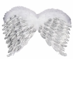 Angle Feather Wings With Glitter