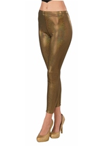 Futuristic Gold Leggings