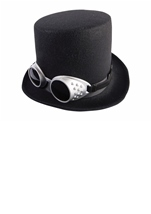 Steampunk Black Hat With Goggles