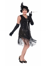 20s Flapper Sequins Woman Plus Costume