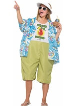 Adult Tropical Tourist Couple Funny Costume