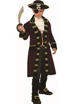 Buccaneer Captain Boys Deluxe Costume