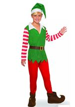 Santas Helper Boys Elf Costume