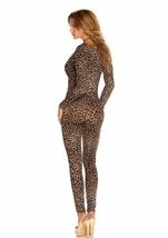 Leopard Print Women Bodysuit Halloween Costume
