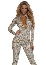 Money Print Woman Catsuit