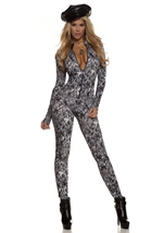 Digi Camo Zip Front Women Army Catsuit