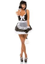 Adult Domesticated Delight French Maid Costume