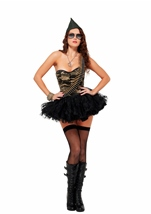 Couture Militant Woman Army Costume