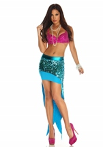 Coral Reef Women Sequin Mermaid Costume