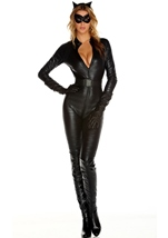 Fierce Feline Woman Masked Costume