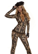 Adult Charming Cadet Army Woman Costume