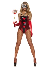 Hearts on Fire Sexy Masquerade Queen Women Costume