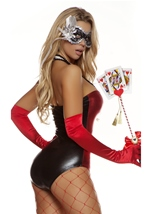 Hearts on Fire Sexy Masquerade Queen Women Halloween Costume