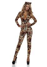 Tigress Woman Catsuit Costume