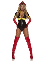 Hot Spot Sexy Firefighter Women Halloween Costume
