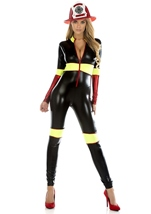Adult Firefighter Woman Bodysuit Costume