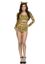 Charming Cheetah Woman Catsuit Costume