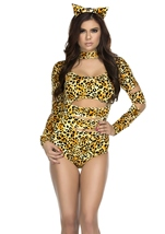 Adult Charming Cheetah Woman Costume