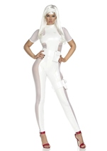 Thunderous Woman Super Hero White Catsuit