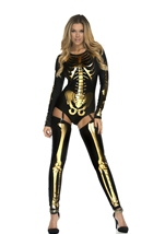 Skeleton Print Woman Bodysuit