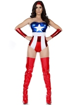 America Super Hero Woman Costume