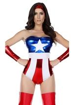 America Super Hero Woman Halloween Costume
