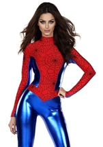 Spider Print Woman Bodysuit Costume
