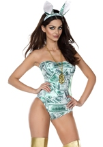 Rabbit Money Print Bodysuit Costume