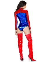 Adult Spider Print Woman Super Hero Costume