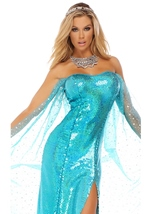 Snow Queen Woman Sequin Costume