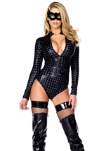 Adult Hologram Zipfront Bodysuit