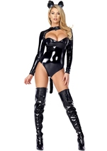 Feline Fetish Woman Catsuit Costume