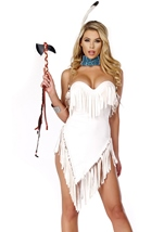 Adult Feathers Native American Woman Costume