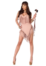 Fancy Fringe Native American Woman Costume