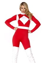 Adult Forceful  Superhero Woman Costume
