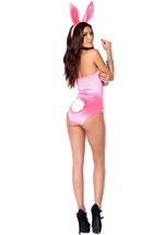 Adult Bunny Cotton Candy Cottontail Bodysuit Costume