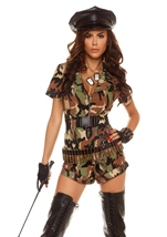 Adult War Ready Woman Solider Costume