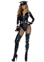 Do Not Cross Cop Woman Costume