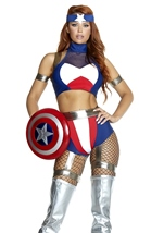 Super Soldier Woman Hero Costume