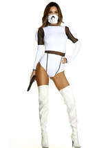 Space Trooper Woman Movie Character Costume