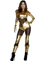 Golden Movie Iron Hero Woman Costume